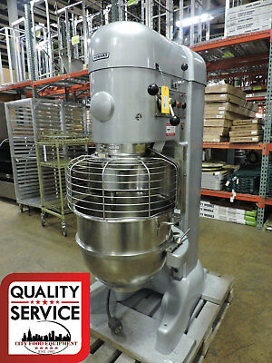 2002 Hobart M802 80 Quart Dough/Bakery/Panaderia Mixer with 80qt Bowl & Guard
