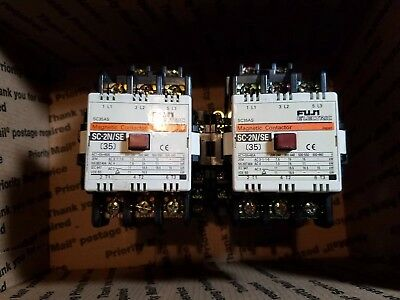 Lot of (2) FUJI ELECTRIC MAGNETIC CONTACTOR SC-2N/SE