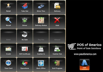 ALDELO POS PRO SOFTWARE RESTAURANT BAR PIZZA POS with Merchant Acct 2.5% + $0.10