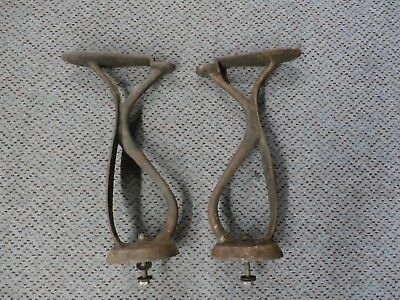 Pair of Antique Foot Rests for a Shoeshine Stand or Chair