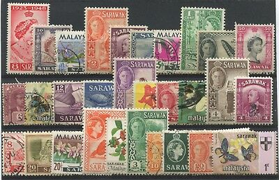 """SARAWAK -  """"  30  stamps  ALL  DIFFERENT  """" ."""