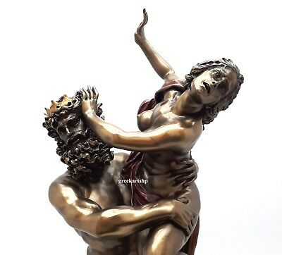 The Rape of  Proserpina Persephone by Pluto Statue Sculpture Bronze Finish
