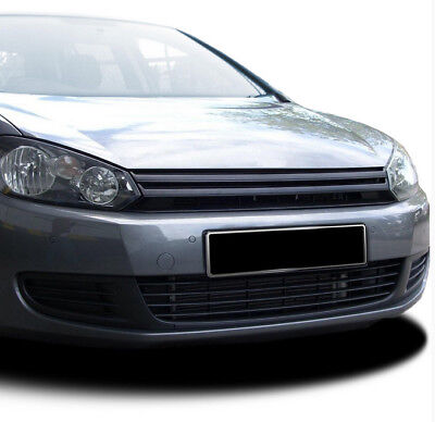 Gloss piano black badgeless front grill for VW Golf mk6 2008-13 mk 6