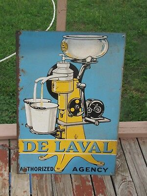 Large Two-sided DeLaval  Porcelain Authorized Dealer Sign