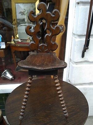 Victorian Black Forest Mahogany Musical Chair in need of a bit of work
