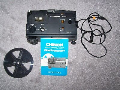 Chinon 2500Gl Cine Projector 8Mm Movie Projector --Working!!!