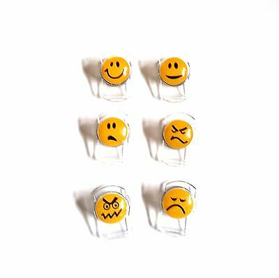 FRIDGE MAGNETS CLIPS Funny Smiley Faces Emoji Notes Letters Holder  Emoticons Set