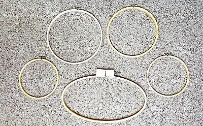 Vintage LOT of 5 WOODEN EMBROIDERY HOOPS Small Round & Oval 7 9 10 Inch Frame
