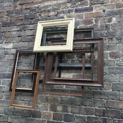 Mini Job Lot, Collection of 8 Antique & Vintage Wooden Picture Picture Frames