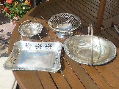 Fantastic Joblot Collection of Antique & Vintage Silver Plated Baskets