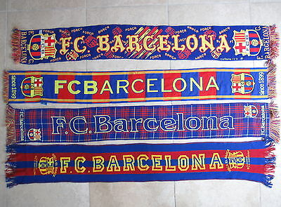 Lot 4 echarpe de supporter FC Barcelone vintage ancienne scarf Barça  Football 4712846059b