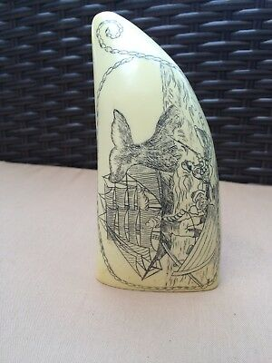 Artek Scrimshaw Whale Tooth Reproduction
