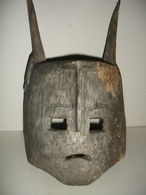 Antique African Primitive Carved Mask