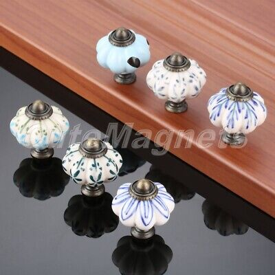 Unique Pumpkin Ceramic Drawer Cabinet Knobs Furniture Wardrobe Door Pull Handle