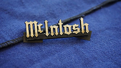 McIntosh Labs original emblem, badge, logo SML