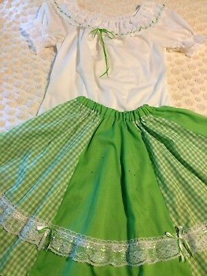 Square Dance Outfit Blouse Skirt Medium