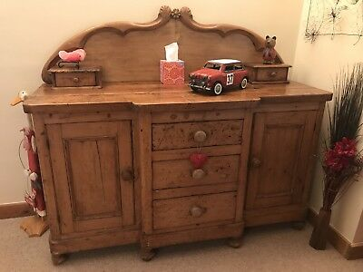 Antique Victorian Pine Sideboard