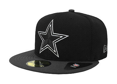 9e51687c4ae New Era 59Fifty Cap Dallas Cowboys Mens Basic Fitted Hat Black Charcoal 5950