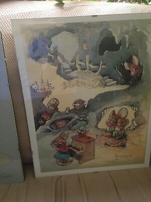 Pendelfin Collectible Posters In Glass Frames