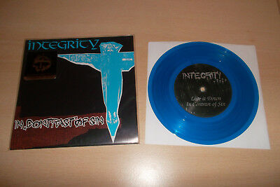 "Integrity 7"" In Contrast Of Sin BLUE All Out War Earth Crisis Bloodlet Ringworm"