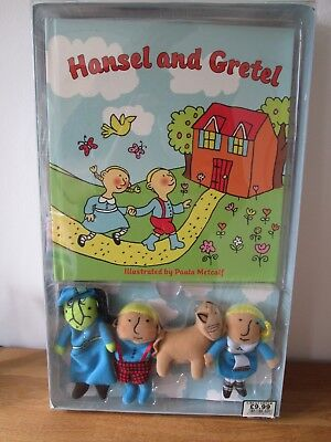 Goldilocks & Hansel and Gretel Book and Finger Puppet Set 2 books 8 puppets