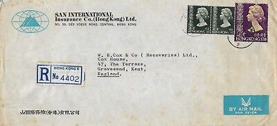Hong Kong 1978 Registered Cover With Queen Elizabeth Ii $1.30 And Two $1 1036