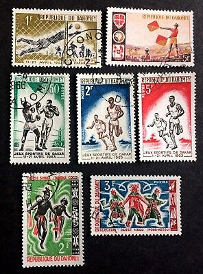 7 wonderful old stamps Dahomey