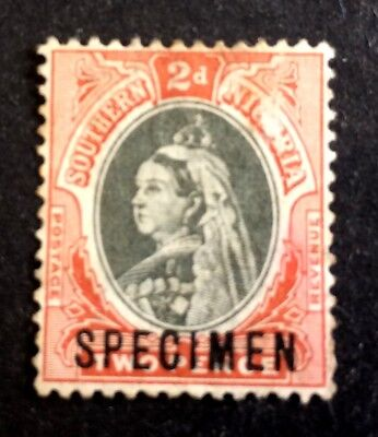 old used stamp Southern Nigeria 2 Pence with overprint SPECIMEN