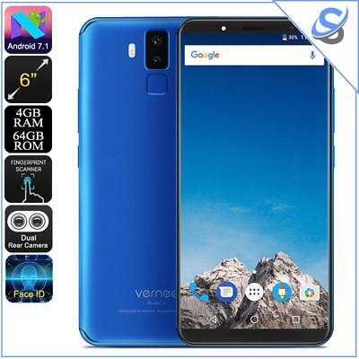 """Vernee X Android 7.1 Smartphone Face ID 4GB+64GB Octa Core Dual SIM 4G 2K 5.99"""""""