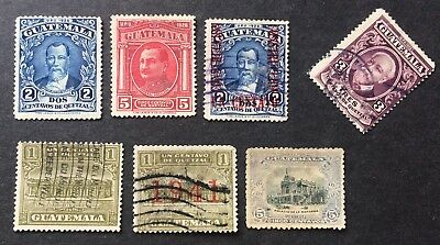 6 nice old stamps Guatemala
