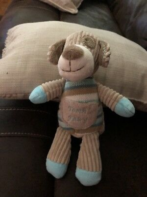 Maison Chic Tooth Fairy Pillow NEW Child Boy Baby Gift Cute  Tan/Blue Dog Puppy
