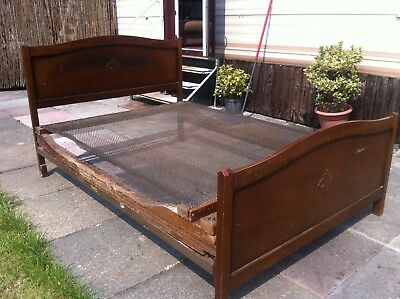 antique bed with adjustable sprung wire base very comfortable classic bed