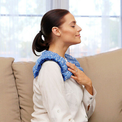 Neck & Shoulder Pain Relief Wrap - Aromatherapy Heat Therapy Pack (Blue)
