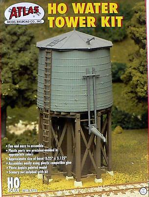 HO Scale Model Railroad Trains Layout Atlas Water Tower Building Kit Scenery