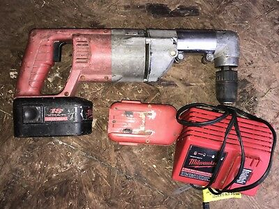Milwaukee 18v Right Angle Drill W/ Battery And Charger