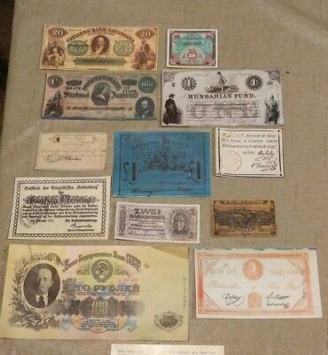 12 Reproduction *Banknotes That Made History* by Jacob's Club In 1975