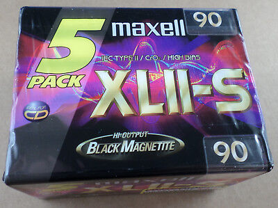 Maxell XLII-S 90 5erpack - NEU - SEALED Blank Audio Tape MC Cassette 1998-2000