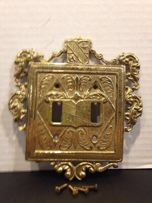 Virginia Metalcrafters Brass Ornate Double Switch Plate.