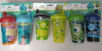 Disney Monster's Inc 10 oz Sippy Sipper Cups Toddler Pack of 2