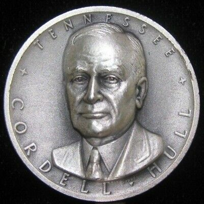 Medallic Art Co NY .999 Pure Silver Medal 1796 Cordell Hull Tennessee 25 grams
