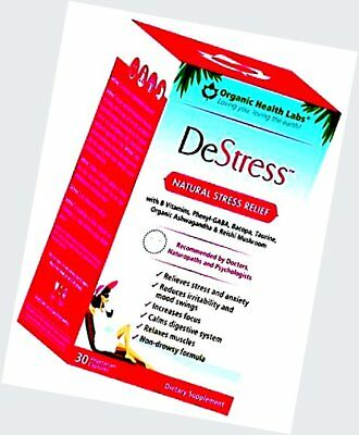DeStress , Natural Anxiety and Stress Relief - 30 Veggie Capsules by Organ..