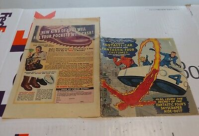 Fantastic Four #3 Silver-Age 1962 Jack Kirby First costume issue Cover Only