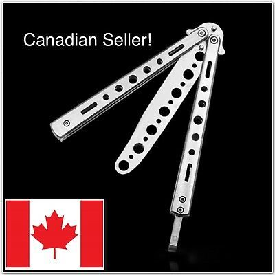 Stainless Steel Butterfly Practice Balisong Butterfly Trainer Sport Knife