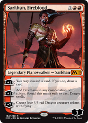 MTG - Core Set 2019 (M19) - Red Cards Numbers 127 to 168