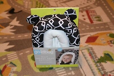 On the Goldbug 2-in-1 Infant Head Support, Black  And White Baby Car Seat