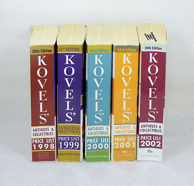Kovels Antiques & Collectibles Price List Guide Book Set 1998-2002