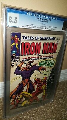 Tales of Suspense #97 CGC 8.5 - White pages - 1st appearance of Whiplash.