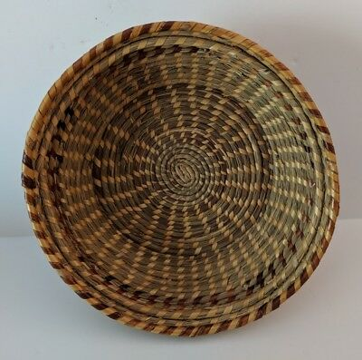 Unusual Sweet Grass Coil Basket Or Bowl- Likely Gullah-Pristine