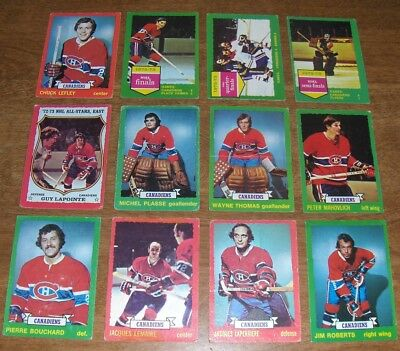 1973-74  *OPC*  MONTREAL CANADIENS  Team Set  ( LOT OF 12 )  Plasse & Thomas RC