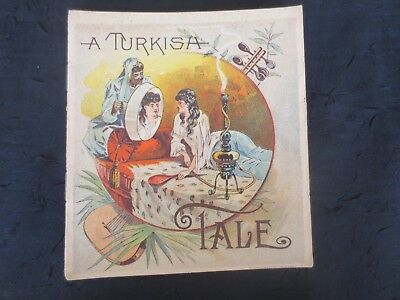 "Antique 1800's Sapolio Soap ""A Turkish Tale"" Lthographed Advertising Booklet"
